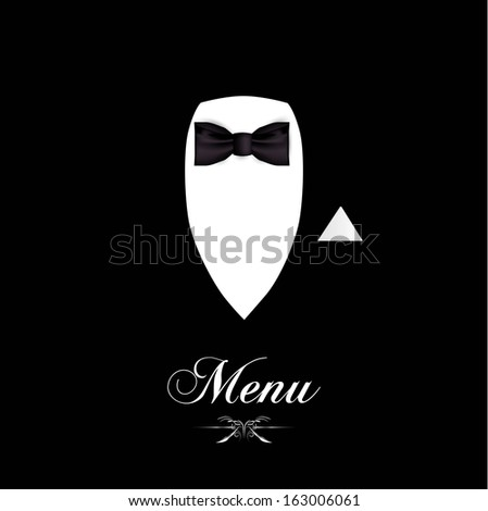 menu for you to add you own text for food or a wine list. - stock vector