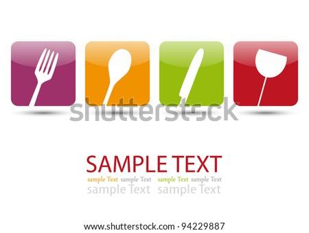 Menu icons - stock vector