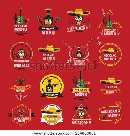 Menu mexican design.Vector illustration. - stock vector