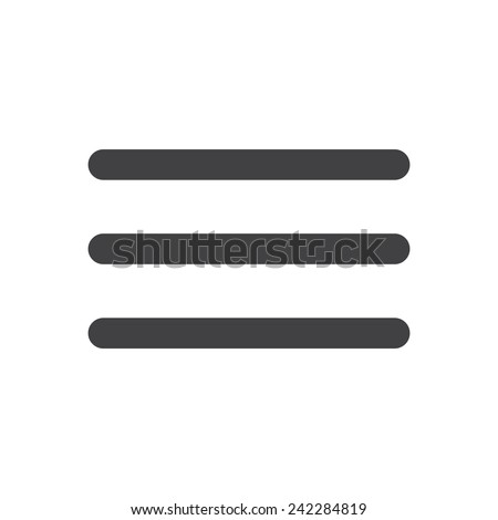Menu, modern flat icon - stock vector