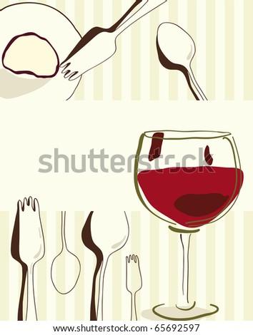 Menu or restaurant card - stock vector