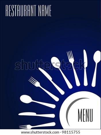 Menu restaurant - stock vector
