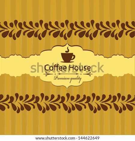 Menu template for coffee house