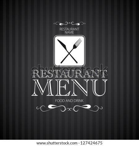 Menu template for restaurant - vector card - stock vector