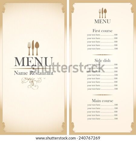 Menu Templates Stock Photos RoyaltyFree Images  Vectors