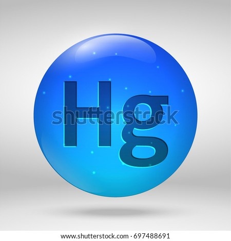 Mercury element periodic table vector 3d stock vector 697488691 mercury element of the periodic table vector 3d glossy drop pill capsule icon urtaz Images