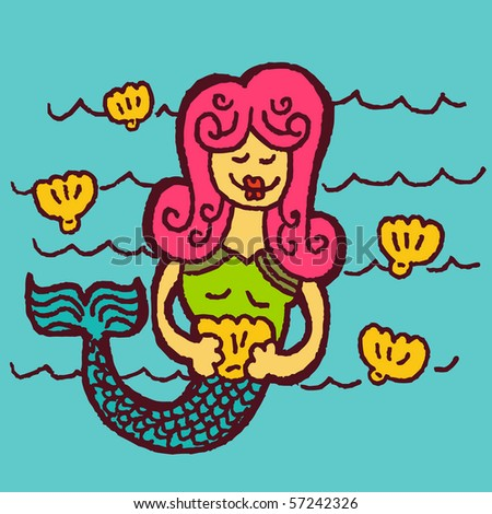 mermaid - stock vector