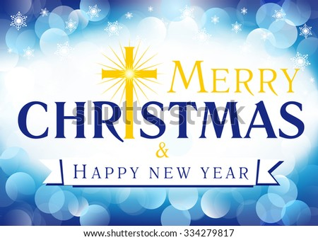 Merry christmas happy new year greetings stock vector 334279817 merry christmas a happy new year greetings celebrating congratulating decorative traditional white blue card m4hsunfo