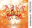 Merry Christmas & Happy New Year Card - stock vector