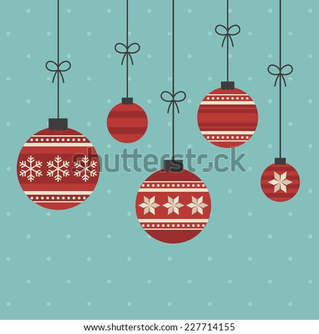 merry christmas and happy new year card design. vector illustration - stock vector