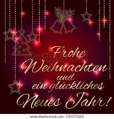 Merry christmas happy new year card stock vector 535373101 card template with greetings in german language luxury m4hsunfo