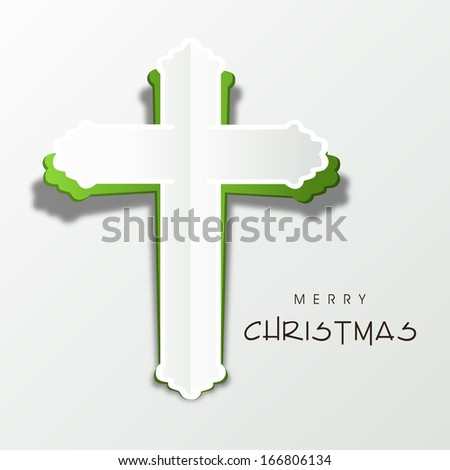 Merry christmas happy new year 2014 stock vector 166806134 merry christmas and happy new year 2014 celebration concept with stylish christian cross on abstract background voltagebd Image collections