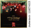 Merry Christmas and happy new year elegant background - stock vector