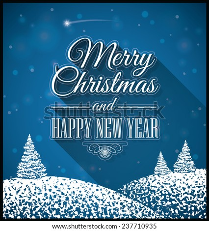 Merry Christmas and Happy New Year. EPS10, CMYK.  - stock vector