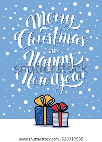 Set Gift Tags Christmas New Year Stock Vector   Shutterstock