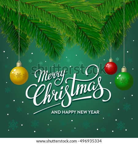 Merry christmas happy new year greeting stock vector 496935334 merry christmas and happy new year greeting card vector illustration m4hsunfo