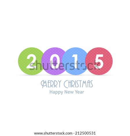 Merry Christmas and Happy New Year 2015 Stylish Text Vector Design