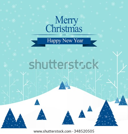 Merry Christmas and happy new year vector - stock vector