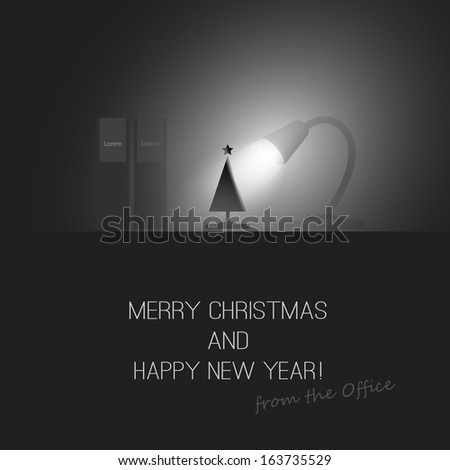 Merry Christmas and Happy New Year - Vector Design - stock vector