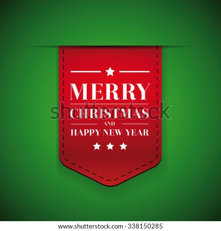 Merry Christmas and Happy Year year - stock vector
