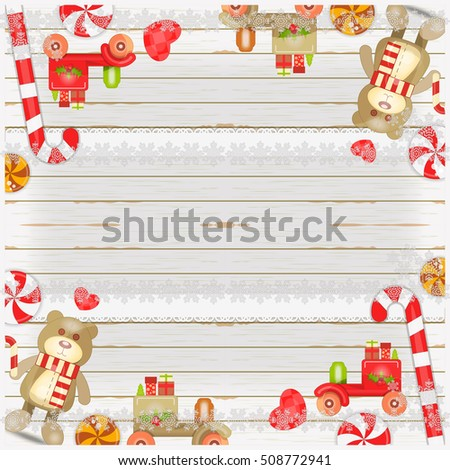 Merry Christmas New Year Card Holiday Stock Vector Hd Royalty Free