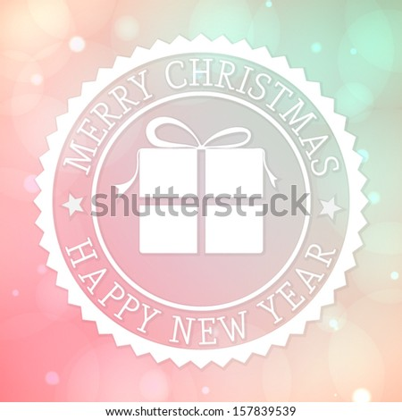 Merry Christmas background - stock vector