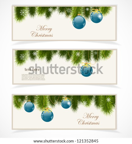 Merry Christmas banner - stock vector