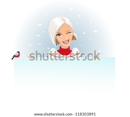 Merry Christmas Banner, add You Text - stock vector