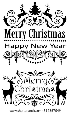 Merry Christmas banners. - stock vector