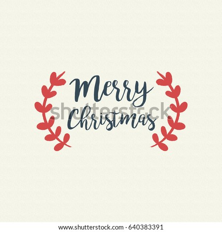Superbe Merry Christmas Calligraphy Quote, Lettering Text Design For Holiday  Season. Creative Vintage Typography Font