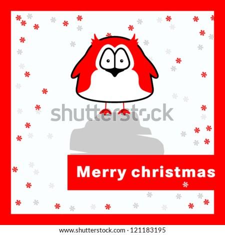 Merry christmas card. - stock vector