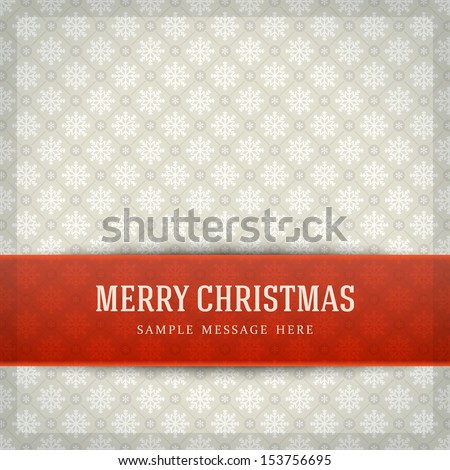 Merry Christmas card and snowflakes pattern decoration background. Vector illustration Eps 10.  - stock vector