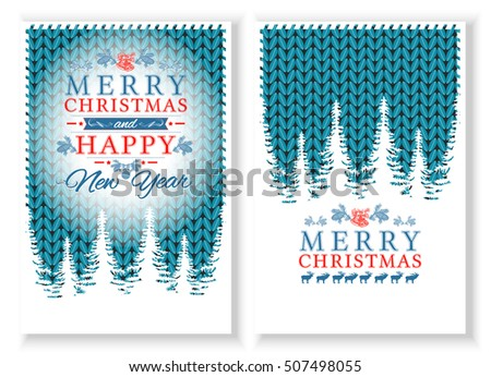 Merry Christmas Happy New Year Card Stock Vector 506798617 ...