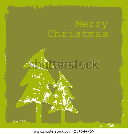 Merry Christmas Card. Vector illustration. - stock vector