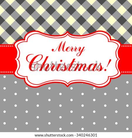 Merry Christmas card. Vector Illustration - stock vector