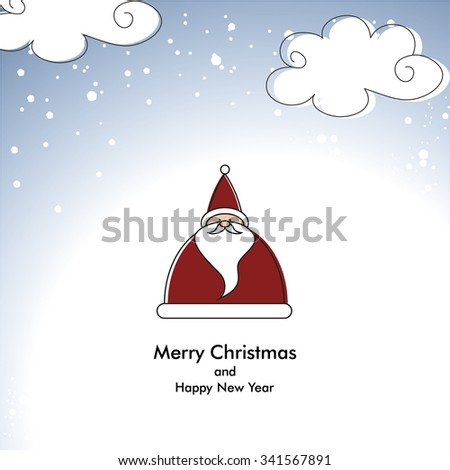 Merry Christmas card with Santa - stock vector