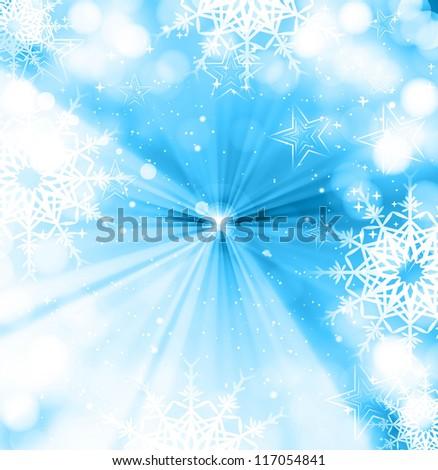 merry christmas celebration blue colorful card vector - stock vector