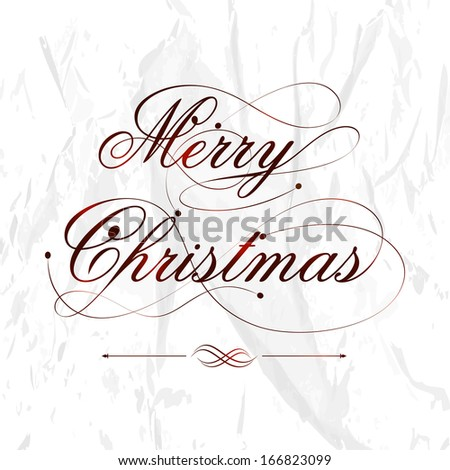 Merry Christmas celebration flyer, banner, poster or invitation with stylish text on grungy grey background.  - stock vector