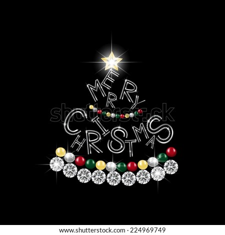 Merry Christmas celebration greeting for card or decoration, vector illustration.