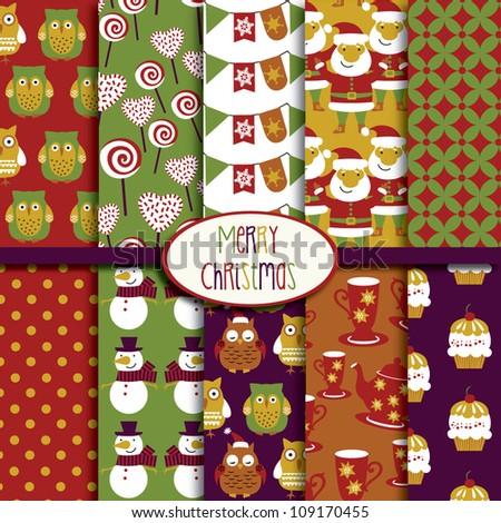 Merry Christmas Collection - stock vector