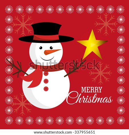 Merry christmas colorful card design, vector illustration eps 10