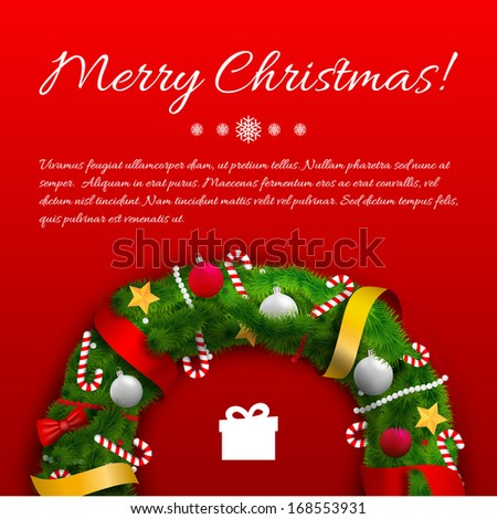 Merry Christmas creative background. Vector Illustration, eps10, contains transparencies. - stock vector