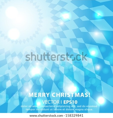 Merry Christmas 3D abstract diamonds and squares with space for text. Vector EPS 10 illustration.