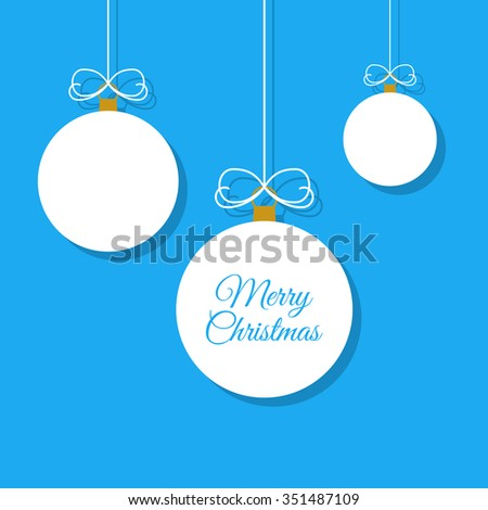 Merry Christmas design illustration. Vector illustration EPS10. - stock vector