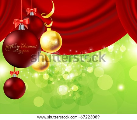 Merry Christmas Elegant Suggestive Background for Greetings Card - stock vector