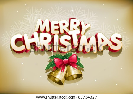 Merry Christmas. Elements are layered separately. Easy editable. - stock vector