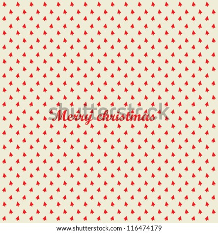 Merry Christmas festive background. Vector Christmas tree - stock vector