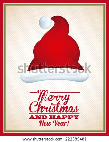 merry christmas graphic design , vector illustration - stock vector