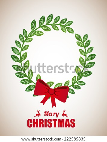 merry christmas graphic design , vector illustration - stock vector
