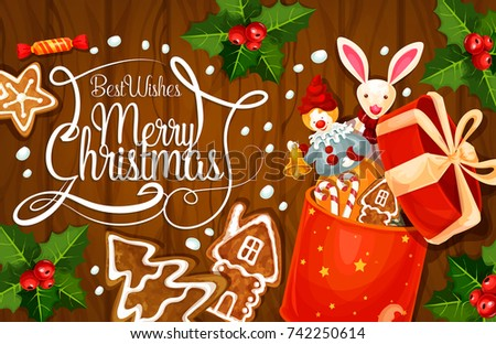 Merry christmas greeting card design happy stock vector hd royalty merry christmas greeting card design for happy holidays or happy new year winter season wish m4hsunfo